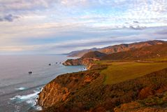 Bixby bridge on Highway 1, view from Hurricane point, Big Sur, California Stock Image
