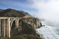 Bixby Bridge Hwy1 California Royalty Free Stock Image