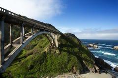 Bixby Bridge at Pacific Coast as part of Road Number 1, California. USA Royalty Free Stock Image