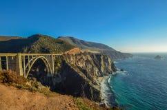 Bixby bridge, Pacific coast, California. Beautiful coast near Big Sur, California Stock Images
