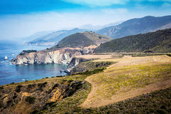 Bixby Bridge on Pacific Coast Highway PCH Royalty Free Stock Photography