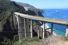 Bixby Canyon Bridge royalty free stock photography