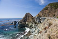 Bixby Creek Arch Bridge Stock Photography