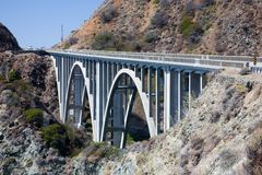 Bixby Creek Arch Bridge. Near Big Sur in California, USA Royalty Free Stock Image
