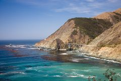 Bixby Creek Arch Bridge Royalty Free Stock Photos