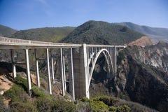 Bixby Creek Arch Bridge. Near Big Sur in California, USA Royalty Free Stock Photos