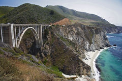 Bixby Creek Bridge Royalty Free Stock Photography