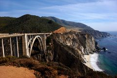 bixby creek bridge Zdjęcie Royalty Free