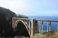 Bixby creek bridge - California USA Royalty Free Stock Images
