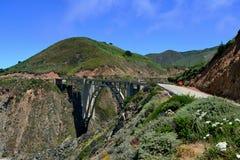 Bixby Creek Bridge near Big Sur on California State Route One. California. USA royalty free stock photography