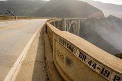 Bixby Creek Bridge On Highway 1, California Royalty Free Stock Photos