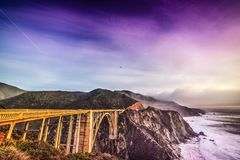 Bixby Creek Bridge on Pacific Coast Highway. California, USA Stock Image
