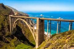 Bixby most, autostrada 1 Sura, Kalifornia Duży - usa Fotografia Stock