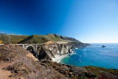 Bixbybrug - de Grote Kust van Sur - van Californië Royalty-vrije Stock Foto's