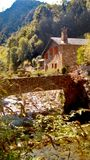 Bixessarri. Autumn in the Os river Royalty Free Stock Image