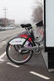 Bixi自行车在蒙特利尔 免版税图库摄影
