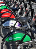 Bixi. Docking station in Montreal, Canada Royalty Free Stock Image