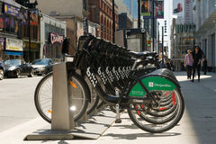 Bixi bike rental stand Stock Photos