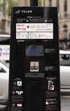 BIXI-cykeltelefonautomat Arkivfoto