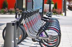 Bixi Fahrräder. Stockbild