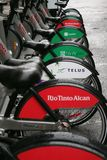 Bixi Fahrräder lizenzfreie stockbilder