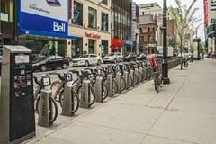 Bixi rowerów stacja Obraz Royalty Free