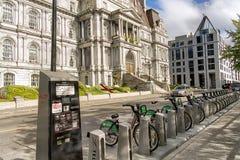 Bixi rowerów stacja Zdjęcie Royalty Free