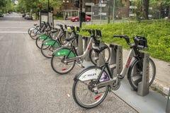 Bixi rowerów stacja fotografia royalty free