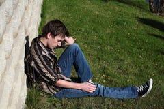 Biy deprimido Fotos de archivo