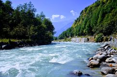 Biyash river at kullu. Manali at himachal paradesh Royalty Free Stock Photography