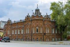 Biysk, a historic house on the former Great street Stock Image