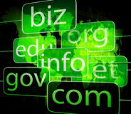 Biz com net shows websites internet or seo Stock Image