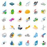 Biz icons set, isometric style Royalty Free Stock Photography