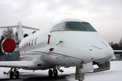 Biz-jet in snow Royalty Free Stock Photography