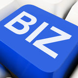 Biz Key Shows Online Or Web Business Royalty Free Stock Images