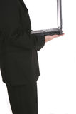 Biz Laptop One. Businessman and Laptop Royalty Free Stock Photography
