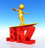 BIZ Top Level Domain. A computer generated 3D illustration royalty free illustration