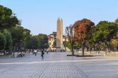 Bizantyjscy i Egipscy obeliski przy poprzednim hipodromem, sułtan zdjęcie stock
