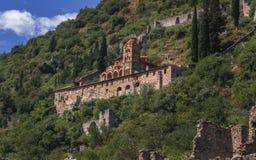 Bizantyjska architektura Mystras, Grecja - fotografia stock