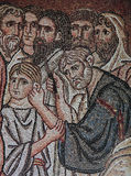 Bizantyjska mozaika w Daphni monasterze, Ateny, Grecja Obrazy Royalty Free