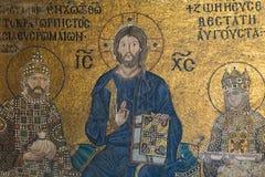 Bizantyjska mozaika we wnętrzu Hagia Sophia Zdjęcie Royalty Free