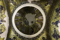 Bizantyjska mozaiki ikona w Nea Moni, Nowy monaster Zdjęcie Royalty Free