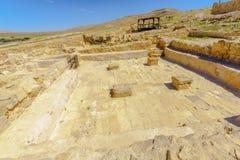 Bizantyjski bathhouse w Mamshit, zdjęcia stock