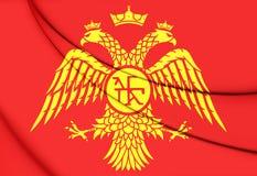 Bizantyjski Eagle, flaga Palaiologos dynastia royalty ilustracja
