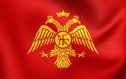 Bizantyjski Eagle, flaga Palaiologos dynastia ilustracja wektor