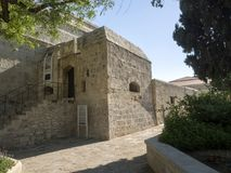 Bizantyjski kasztel, Limassol, Cypr fotografia stock
