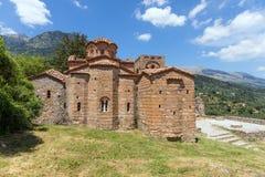 Bizantyjski kościół Agia Sofia w Mystras, Peloponnese, Grecja Zdjęcie Stock