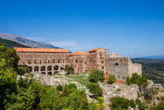 Bizantyjski miasto Mystras, Peloponnesus, Grecja Obrazy Royalty Free