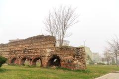 Bizantyjskie ściany w Bursa Zdjęcie Stock