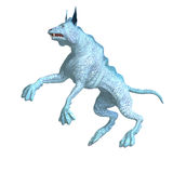 Bizarre alien dog. 3D rendering with clipping path and shadow over white Stock Images